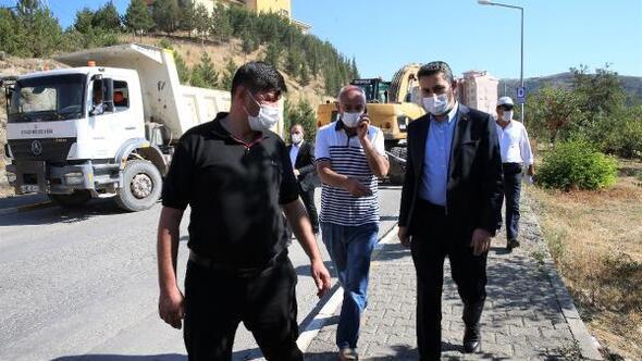 Başkan Eroğlu asfalt çalışmalarını inceledi
