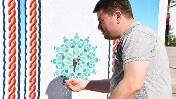 Aksaray Belediyesinin tatlı su kabinleri ilgi gördü