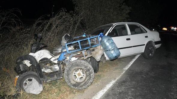 Otomobille çarpışan ATV sürücüsü yaralandı