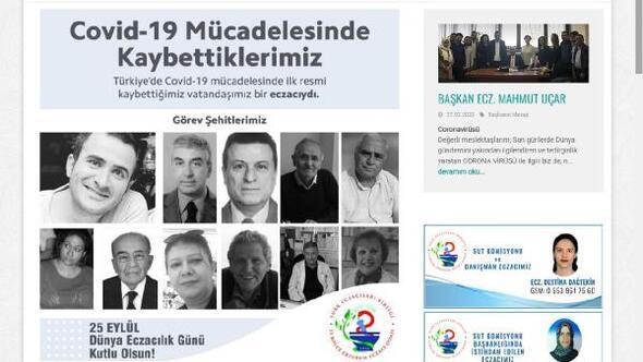 Erzurumda eczacılar, sosyal medya profillerini kararttı