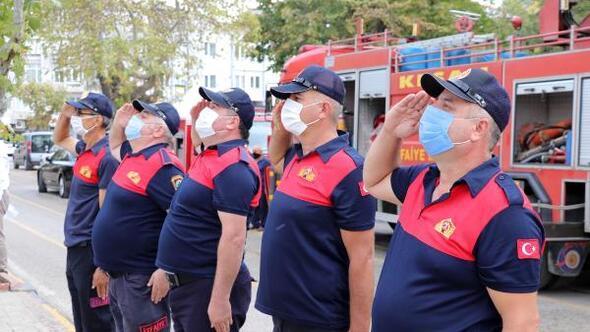 Maskeli ve sosyal mesafeli İtfaiye Haftası kutlaması