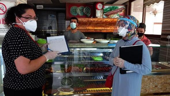 İslahiye'de 122 işletmede koronavirüs denetimi