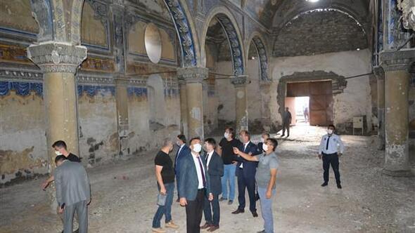 İl Kültür ve Turizm Müdürü Dursun, Tomarzadaki tarihi yapıları inceledi