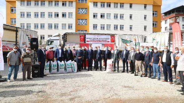 Tokat'ta bin 250 ton buğday dağıtıldı