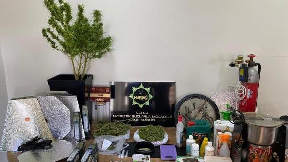 Evini uyuşturucu imalathanesine çeviren şüpheli yakalandı