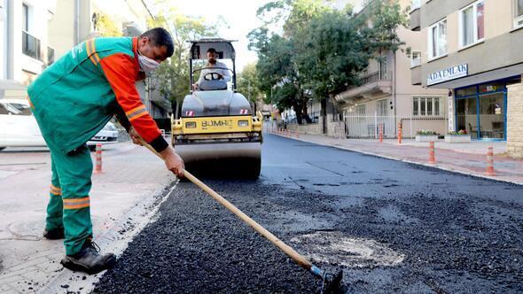İlçede asfalt çalışması sürüyor