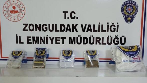 Zonguldakta uyuşturucu operasyonu: 3 tutuklu