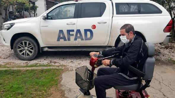 Edirnede AFADdan engelli Akgöne elektrikli araç