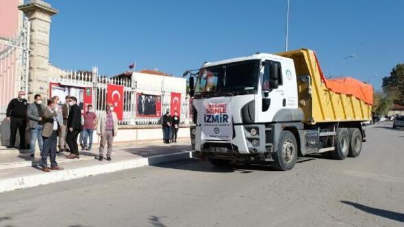 Edirne Belediyesinden depremzedelere yardım kolisi