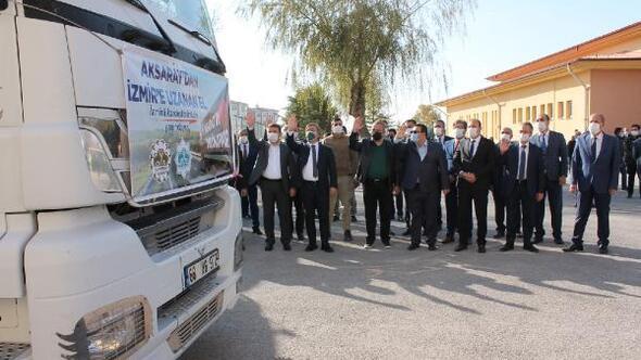 Aksaray'dan İzmire yardım TIR'ları gönderildi