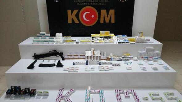 Samsun'da, 11 bin 477 adet hormonal hap ele geçirildi