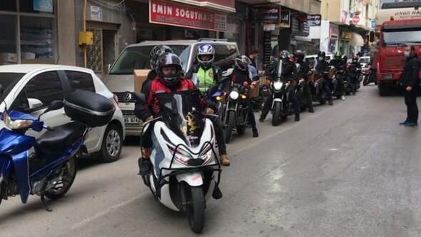 Sinopta motosiklet kulübünden İzmir'e destek