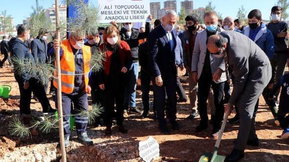 Gaziantepte 50 bin metrekarelik alana ağaç dikildi