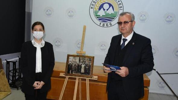 Atatürkün, Keşanı ziyaretinde çekilen fotoğraf müzede sergileniyor