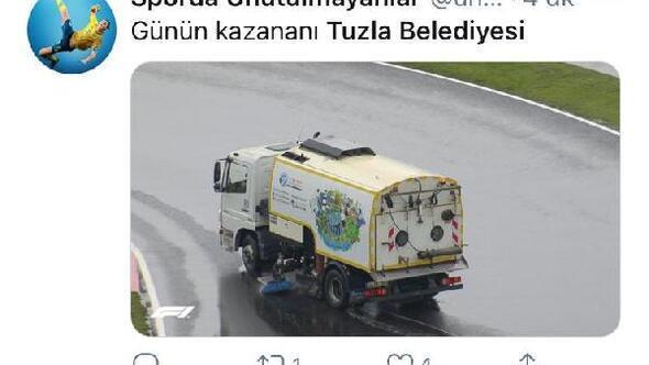 Tuzla Belediye Başkanından Hamiltona temizlik aracı ile cevap: Bak işine kardeşim