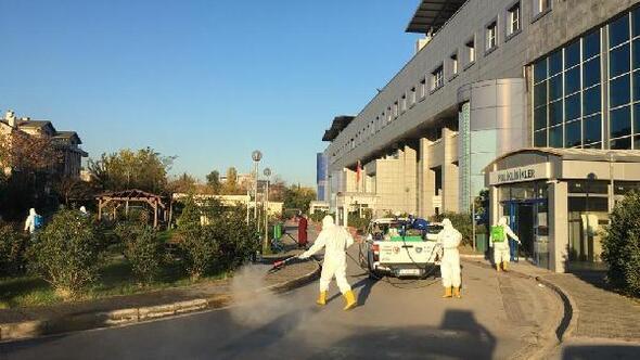 Büyükşehir Belediyesinden hastanelerde dezenfekte çalışması