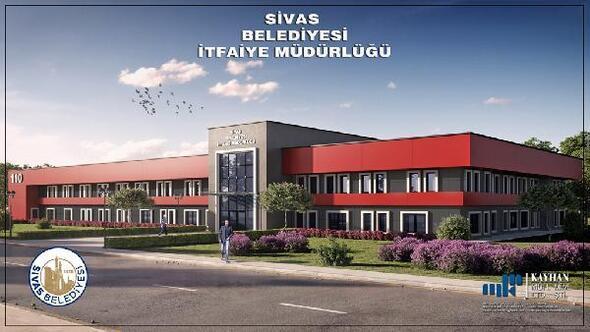 Sivasta yeni itfaiye binası 2021de hizmete girecek
