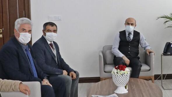 Mardindeki gazetecilerden Vali Demirtaşa ziyaret