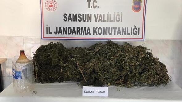 Samsunda 6 kilo 200 gram esrar ele geçirildi