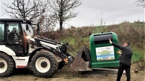 Süleymanpaşanın kırsal mahallelerine zirai atık kutuları konuluyor
