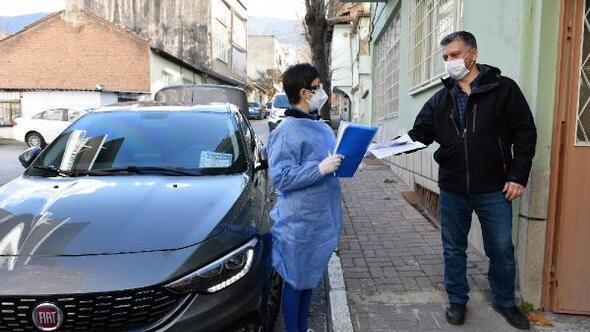 Yıldırım Belediyesinden filyasyon çalışmaları için araç ve personel desteği