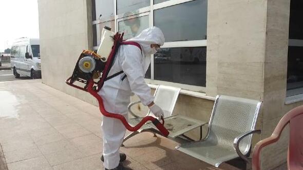 Kahramanmaraşta ekiplerden dezenfekte çalışması