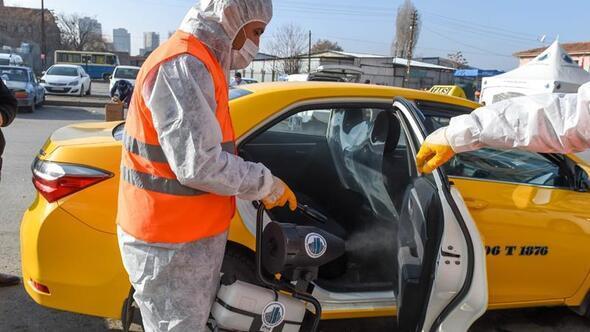 Taksiye dezenfekte taksiciye ikram