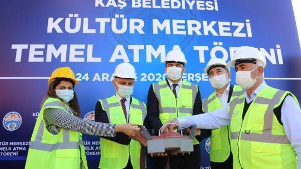 Kaş Kültür Merkezinin temeli atıldı