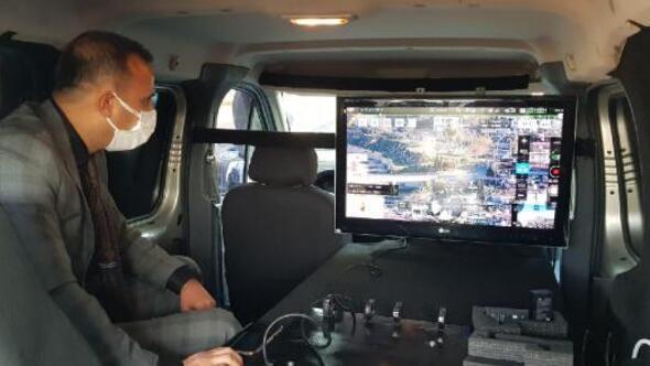 İskenderunda dron destekli huzur uygulaması
