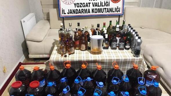 Sorgunda sahte içki operasyonu: 4 gözaltı