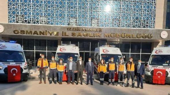 Sağlık Bakanlığından Osmaniyeye 6 ambulans