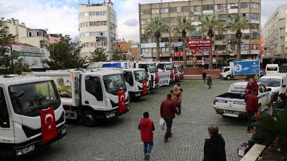 Edremit Belediyesine 9 yeni çöp kamyonu alındı