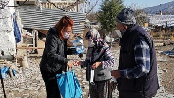 Beypazarı'nda temizlik malzemeleri dağıtıldı
