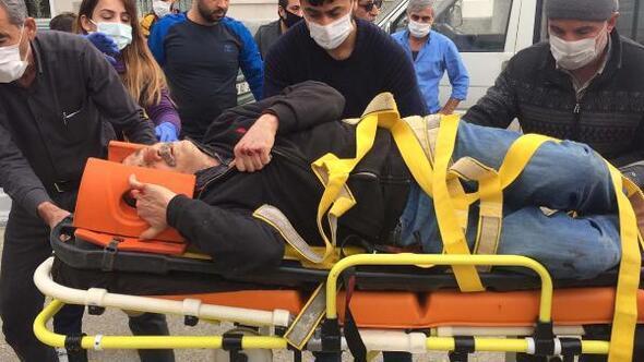 Hafif ticari aracın çarptığı motosiklet sürücüsü yaralandı