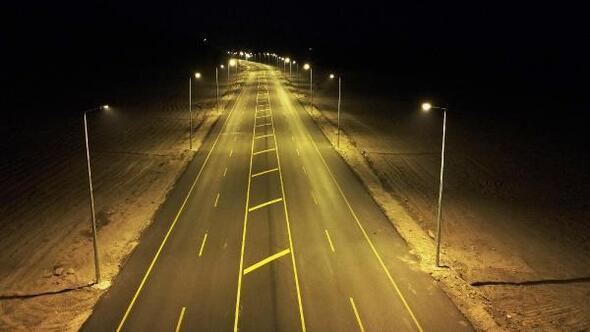 Erciyes Yolunun ilk etabı aydınlatıldı