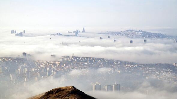 Ankarada yoğun sis etkili oldu