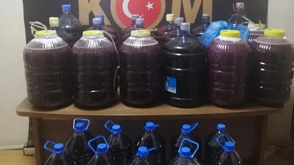 Malatyada 394 litre sahte şarap ele geçirildi