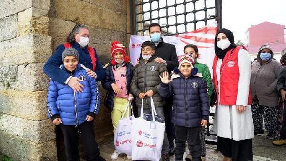 WEFAdan Edirnede çocuklara kışlık yardım
