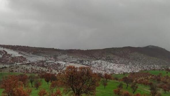 Kulada yüksek kesimlere yılın ilk karı yağdı