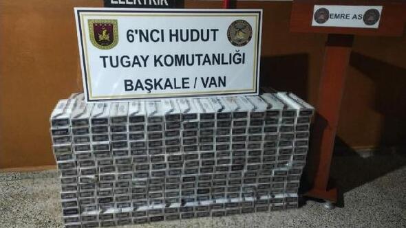 MSB: Hakkari ve Vanda 15 bin 745 paket kaçak sigara ele geçirildi