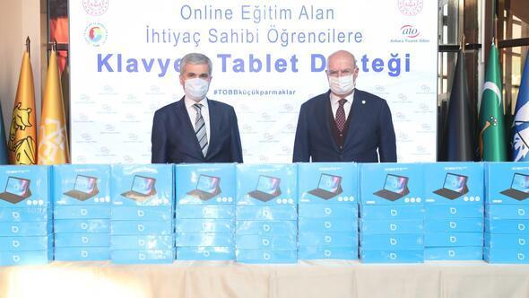 ATO'dan ihtiyaç sahibi öğrencilere tablet