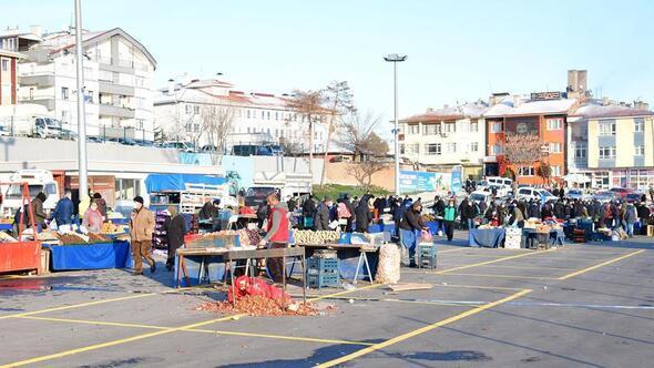 Kartaltepe'nin pazarı açıldı