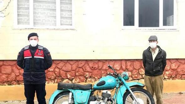 Çalınan motosikleti jandarma buldu