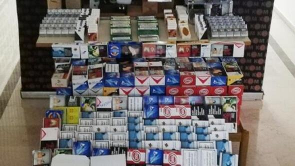 Burdurda kaçak sigara ve içki operasyonu