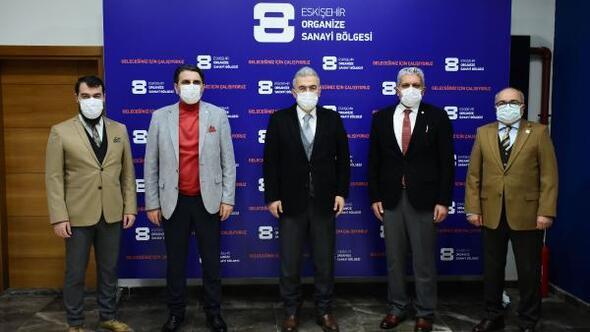 Vali Ayyıldız, Eskişehir Organize Sanayi Bölgesi'ni ziyaret etti
