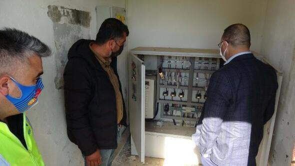 Mersin'de su pompalarına sabotaj