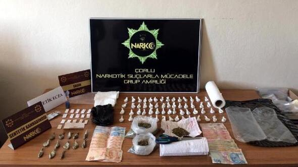 Tekirdağda uyuşturucu operasyonunda 2 kişi tutuklandı