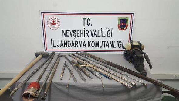 Nevşehir'de kaçak kazıya 2 gözaltı