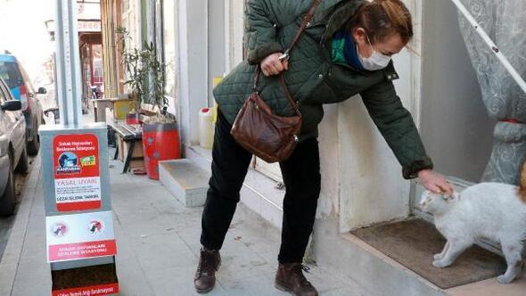 Burdurda sokak hayvanları için mamamatik yerleştirdi