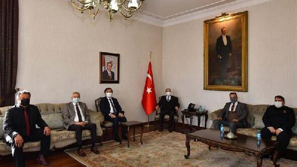 Aksaray Valisinden Konya Valisine ziyaret